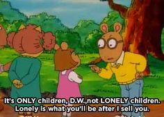 When Arthur gave D.W. a COLD grammar lesson:
