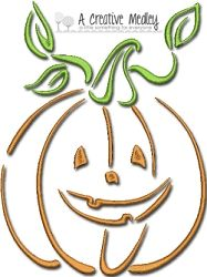 Swirly Satin Fall Set - 3 Sizes! | Halloween | Machine Embroidery Designs | SWAKembroidery.com A Creative Medley