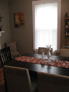 Dining room ... additional chairs in empty corners