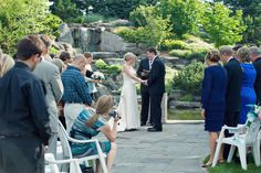 Beautiful outdoor wedding at Frederik Meijer Gardens. (Photo by Allie Siart Photography)