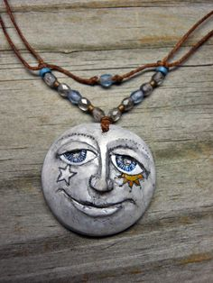 Alone Star Jewelry: Shauna's Polymer Clay Moons