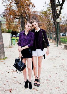 BONAE L'AMOUR | bonaelamour.com - Rose Smith & Karo Mrozkova (in) Model's Street...