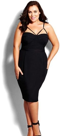 City Chic 'Undress Me' Dress (Plus Size), Plus Size Dresses. Atemberaubende Abendkleider. Amazing dresses for the evening, for cocktail partys...