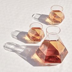 Crystal Glass Set, Rare Crystal, Crystal Decanter, Faceted Crystal, Water Into Wine, Diamond Shapes, Home Gifts, Whisky, Home Accessories