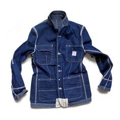 Junya Watanabe x Pointer Brand Reversible Denim Jacket (2006 collaboration) - Pointer Brand workwear made in Bristol, Tennessee by the L.C. King Manufacturing Co.