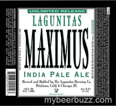 mybeerbuzz.com - Bringing Good Beers & Good People Together...: Lagunitas - Maximus IPA
