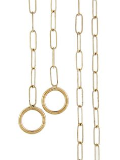 Marla Aaron - Square Link Chain Necklace - Yellow Gold
