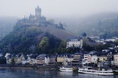 Castle at Cochem, situated on the Mosel River near the Rhine River. An adorable small town in Reisling heaven