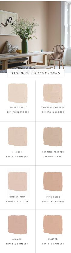 Roundup :: The Best Earthy Pink Paint Colors - coco kelley coco kelley Beige Wall Colors, Pink Paint Colors, Paint Colors For Home, Beige Walls, Pink Walls, House Colors, Beige Color, Room Colors, Farrow Ball
