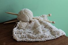 Pretty knitting project