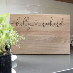 Custom Engraved Wooden Cutting Board - Mini Wim Engraved Cutting Board, Personalized Cutting Board, Bamboo Cutting Board, Cutting Boards, Personalized Couple Gifts, Personalized Housewarming Gifts, Custom Wedding Gifts, Wedding Gifts For Couples, Custom Engraving