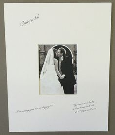 18x24 White Signature and Autograph Picture Mat for 11x14 picture. Weddings, Baby Showers, Reunions