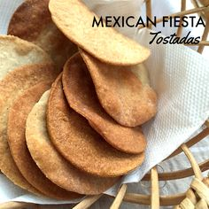 Homemade Multigrain Tostada Shells  Vegetarian recipe: Tostadas are crisp discs that are served with a variety of toppings. Typically made using cornmeal and deep fried, baking them yields perfectly acceptable results.
