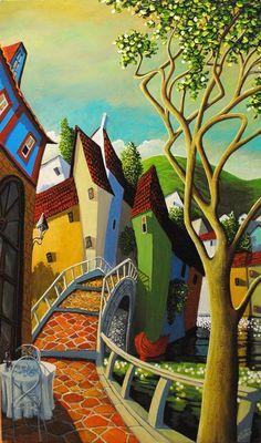 quenalbertini: Miguel Freitas, Artist, Naive art via TuttArt@ Pittura Scultura Poesia Musica Art And Illustration, Art Africain, Naive Art, Art Graphique, Canadian Artists, Whimsical Art, Oeuvre D'art, Folk Art, Modern Art