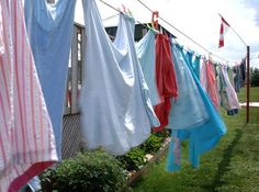 clothes after hanging on the line♥