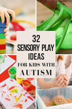Sensory Play is VIP for kids with autism! Whether you are looking for sensory play activities for a toddler to a school aged child there is a sensory activity for your child with autism on this list! Sensory play helps kids with autism learn, calm down, build motor skills, increase attention span and more! #autismactivities #specialneeds