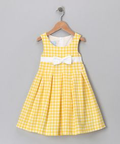 Take a look at this Yellow Pleat Dress - Toddler & Girls by Katie & Co. on #zulily today!