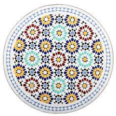 Marokkanischer Mosaiktisch Lisu 80 cm rund Gartentisch Bistrotisch Terrassentisch Fliesentisch Mediterraner Tisch: Amazon.de: Garten