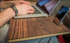 Lap Desk Docking Station and Mobile Workspace Organizer- The HoleeBoard