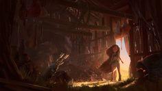 Abandoned Hut, Cathleen McAllister on ArtStation at https://www.artstation.com/artwork/abandoned-hut-61232b6b-2aae-477c-a4f1-c1c19662272f