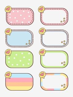 Bullet Journal School, Bullet Journal Ideas Pages, Printable Stickers, Cute Stickers, Box Template Printable, Free Printables, Journal Stickers, Planner Stickers, Cute Borders