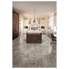 Del Conca X Villa Gray Glazed Porcelain Floor Tile Interior - 6 x 12 porcelain floor tile