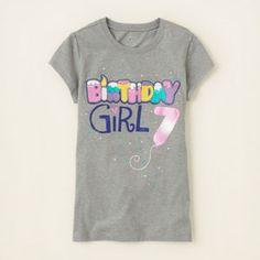 seventh birthday graphic tee