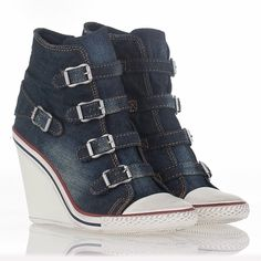 Comfortable Thelma Bis Wedge Sneaker Blue Denim 312019 Popular | Ash Shoes Sample Sale