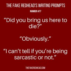 TFR's Writing Prompt 477