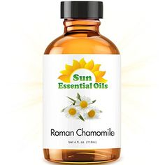 Chamomile (Roman) in a 4oz glass essential oil bottle. Comes with pipette for your convenience....