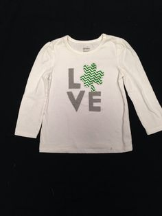 Love shamrock girls shirt, St Patrick's Day girls shirt on Etsy, $14.00