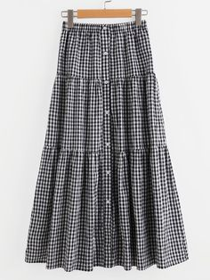 Shop Button Up Tiered Checkered Skirt online. SheIn offers Button Up Tiered Chec… Shop Button Up Tiered Checkered Skirt online. SheIn offers Button Up Tiered Checkered Skirt & more to fit your fashionable needs. Checkered Skirt, Gingham Skirt, Muslim Fashion, Modest Fashion, Fashion Outfits, Dresses Elegant, Modest Dresses, Casual Fall Outfits, Cute Outfits
