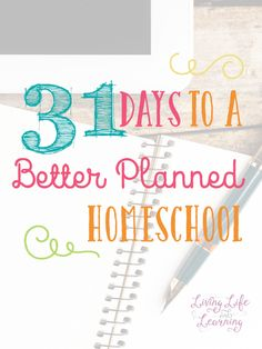 Overwhelmed with homeschool planning? Take it one step at a time and come back to visit my 31 Days to a Better Planned Homeschool series to set up your year for success.