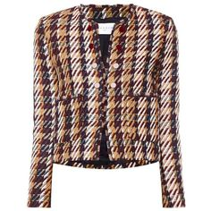 Sandro Marianne korte blazer in wolblend ❤ liked on Polyvore featuring outerwear, jackets, blazers, sandro, sandro jacket and blazer jacket