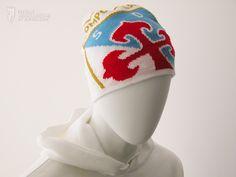 Gorro de lana del Compostela. Incluye el escudo. Ideal para no pasar frío en el estadio. Talla única.