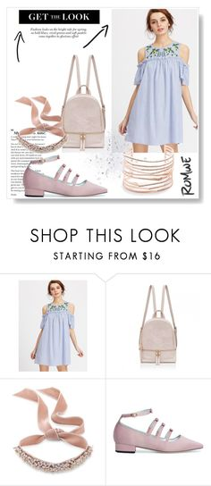 """""""Romwe"""" by razaraza ❤ liked on Polyvore featuring Fallon and Alexis Bittar"""