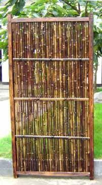 bamboo door w a track