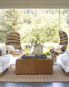 For a truly refreshing summer experience, or for any time of year if you're lucky enough to live in a temperate area, try our ideas for outdoor living spaces. Outdoor rooms are pared down and more casual versions of what's… Continue Reading → Ideas Terraza, Outdoor Rooms, Outdoor Decor, Outdoor Living Furniture, Adirondack Furniture, Outdoor Kitchens, Outdoor Lounge, Adirondack Chairs, Wooden Furniture