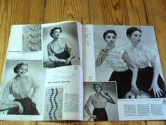 Modezeitschrift DER NEUE SCHNITT 2/1955 - 2 Schnittmuster-Bg 50er Jahre Mäntel | eBay