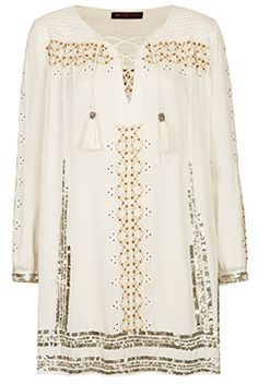 Kate moss indian lace up dress