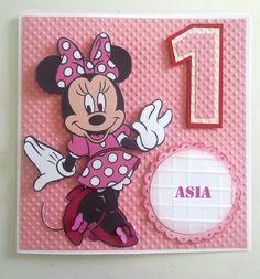 Minnie Mouse birthday card.