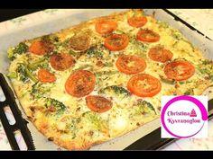 Συνταγή για Υγιεινή Πίτσα χωρις Υδατάνθρακες Πιτσα χωρίς ζύμη - YouTube