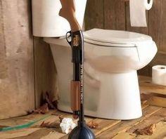 shotgun toilet plunger