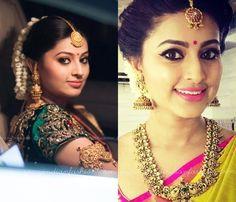 Actress Sneha Saree Makeup Tips
