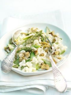 Spargel-Walnuss-Risotto