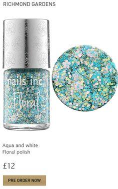 New floral nail polish by Nails Inc. Yaaaay! Nails Inc London #kbshimmer #louboutin #fashion #zoya #OPI #nailsinc #dior #orly #Essie #Nubar @opulentnails over 17,000 pins