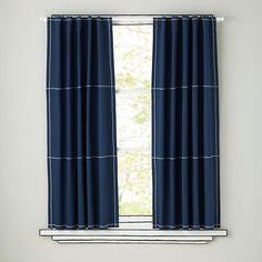 Fashionable and Stylish Navy Curtains | Drapery Room Ideas
