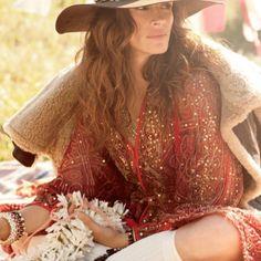 Bohemian Fashion reminds of Eat pray love thanks to Julia Roberts