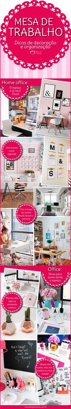 A mesa de trabalho precisa estar organizada e propícia a novas ideias! As cores, as distribuições, e até o que você escolhe para compor este espaço vai ajudar ou atrapalhar o seu rendimento. Além disso, é o local onde normalmente…