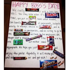 After combining many of these candy cards I finally came up with the perfect one for my boss today for National Boss's Day, because she really is the best.